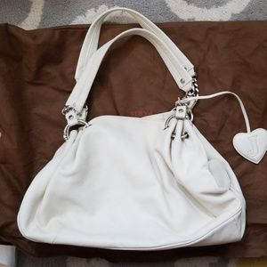 Juicy Couture slouchy white leather purse
